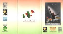 [MD3280] CPM - SERIE COMPLETA 15 CARTOLINE (3 CON ANNULLO) CON POCHETTE 150° ANNIVERSARIO UNITA' D'ITALIA - NV - Storia