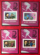 Comores, Lot De 4 Blocs Feuillets - 1er Liaison Téléphonique - (S198) - Comoros