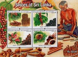 Sri Lanka - 2019 - Spices Of Sri Lanka - Mint Souvenir Sheet - Sri Lanka (Ceylon) (1948-...)