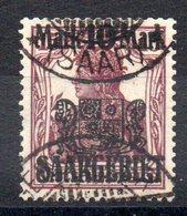 SARRE - YT N° 52 - Cote: 21,00 € - Oblitérés