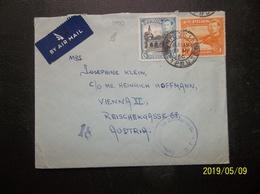 Cyprus: 1950 Censored Air Cover To Austria (#VQ2) - Zypern (...-1960)