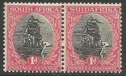 South Africa - 1926 Von Riebeeck's Ship 1d Bilingual Pair MNH **    SG 31   Sc 24 - Unused Stamps
