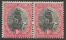 South Africa - 1926 Von Riebeeck's Ship 1d Bilingual Pair MNH **    SG 31   Sc 24 - South Africa (...-1961)