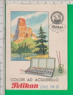 PELIKAN. Calandario. Calendarietto 1946. Penna. Inchiostro. Penne. Acquarello. Semestrino. - Calendari