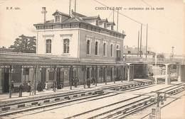 94 Choisy Le Roi Interieur De La Gare Cpa Carte Animée - Choisy Le Roi