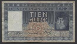 Netherlands  10 Gulden 1-6-1933 - 11-10-1939 , NO: PZ 040100 - See The 2 Scans For Condition.(Originalscan ) - [2] 1815-… : Kingdom Of The Netherlands