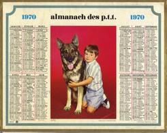 Calendrier 1970 - Amis ( Enfant Et Chien Berger Allemand ) - Big : 1961-70
