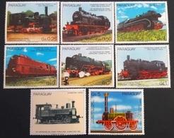 # Paraguay 1985** Mi.3898-3904. Locomotives, MNH  [27] - Eisenbahnen