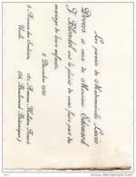 Faire Part Lucie Devers Edouard J. Blondel 1920 Ukkel Forest Uccle Vorst Boulevard Botanique - Wedding