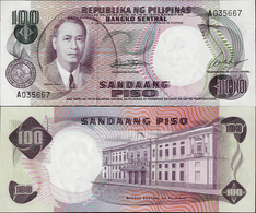 Philippines ND 1969 - 100 Piso - Pick 147a UNC Sign.7 - Philippines