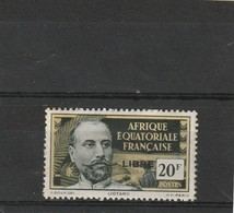 """A.E.F  Neuf *  1940  N° 127  Timbre De 1936-39  Surchargé """" LIBRE"""" En Noir - Neufs"""