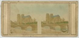 Stéréo Rehaussée Ante 1859 . Paris . Notre-Dame De Paris , Avant L'édification De La Flèche Par Viollet-le-Duc . - Photos Stéréoscopiques