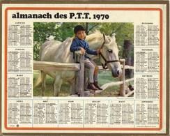 Calendrier 1970 - Ecuyère ( Fillette Et Cheval ) - Big : 1961-70
