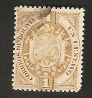 Bo4-1. America BOLIVIA 1 Un Centavo 1894 Coat Of Arms Bolivien - Bolivia