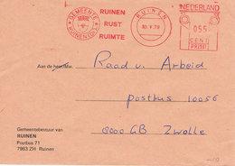 Niederlande Freistempel Ruimte - Wappen,  Blason, Coat Of Arms - Meterstamp, EMA - Poststempel - Freistempel