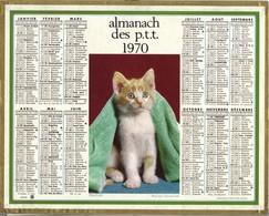 Calendrier 1970 - Frileux ( Petit Chat ) - Big : 1961-70