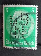 1932 - MICH. N° 468 OB PERFORE L B N  - HINDENBURG - Gebraucht