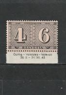 Suisse  Neuf **  1943  N° 384   Centenaire Du Timbre De Zurich - Svizzera