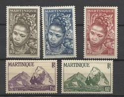 Martinique Poste N°226 à 229 Et 231    Neufs * *  Et Neufs  *   B/ TB               Soldé à  Moins De 20 %  ! ! ! - Martinique (1886-1947)