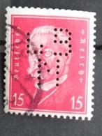 1928 - MICH. N° 414 OB PERFORE L B N  - HINDENBURG - Deutschland