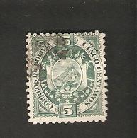 Bo4-2-1. America BOLIVIA 5 Cingo Centavos 1894 Coat Of Arms Bolivien - Bolivia