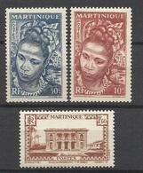 Martinique Poste N°226 ; 227 Et 183    Neufs * *  Et Neufs  *   B/ TB               Soldé à  Moins De 20 %  ! ! ! - Martinique (1886-1947)