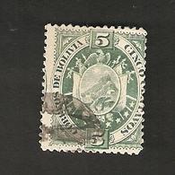 Bo4-2-2. America BOLIVIA 5 Cingo Centavos 1894 Coat Of Arms Bolivien - Bolivia