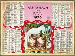 Calendrier Double 1970 - Les Jumeaux ( Deux Chatons ) - Big : 1961-70