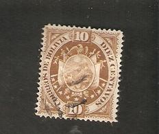 Bo4-3-2. America BOLIVIA 10 Diez Centavos 1894 Coat Of Arms Bolivien - Bolivia
