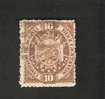 Bo4-4-1. America BOLIVIA 10 Diez Centavos 1894 Coat Of Arms Bolivien - Bolivia