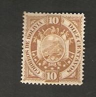 Bo4-5-1. America BOLIVIA 10 Diez Centavos 1894 Coat Of Arms Bolivien - Bolivia