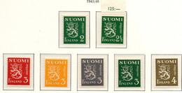 PIA - FINLANDIA  - 1945-48 : Uso Corrente - Leone Rampante  - (Yv 288-302B) - Unused Stamps