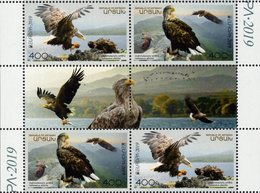 Armenia - Nagorno-Karabakh - 2019 - Europa CEPT - National Birds - Mint Stamp Pane With Gutter - Arménie