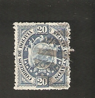 Bo4-5-2. America BOLIVIA 20 Veinte Centavos 1894 Coat Of Arms Bolivien - Bolivia
