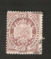 Bo4-6-1. America BOLIVIA 50 Cincuenta Centavos 1894 Coat Of Arms Bolivien - Bolivia