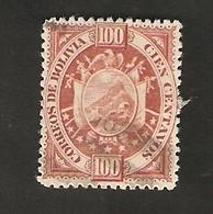 Bo4-6-2. America BOLIVIA 100 Cien Centavos 1894 Coat Of Arms Bolivien - Bolivia