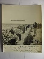 PHOTO CIRCA 1940 - MAROC ALGERIE BOU ARFA KENADZA TRAVAUX CONSTRUCTION DE LA LIGNE DE TRAIN - Bouarfa Kenadsa - SAHARA - Trains