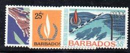 CI842 - BARBADOS 1968, Serie Yvert N. 286/288 ***  MNH   (2380A) .  Diritti Uomo - Barbados (1966-...)