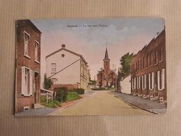 QUENAST La Rue Vers L'Eglise Province Du Brabant Wallon Rebecq Belgique Carte Postale - Rebecq