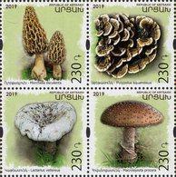 Armenia - Nagorno-Karabakh - 2019 - Mushrooms - Preservation Of Wildlife - Mint Stamp Set - Arménie