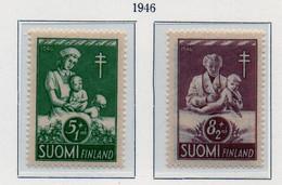 PIA - FINLANDIA  - 1946 : Pro-tubercolotici   - (Yv 312-13) - Malattie
