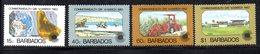 CI880 - BARBADOS 1983, Serie Yvert N. 572/575 ***  MNH   (2380A) . - Barbados (1966-...)