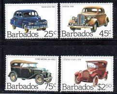 CI895 - BARBADOS 1983, Serie Yvert N. 580/583 ***  MNH   (2380A) . Automobili Car - Barbados (1966-...)
