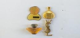4 PIN'S PARFUMS : PIVOINE - LANCOME - AZZARO - YVES SAINT LAURENT - Perfume