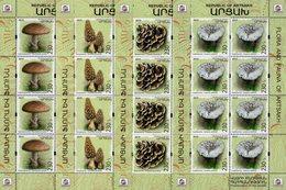 Armenia - Nagorno-Karabakh - 2019 - Mushrooms - Preservation Of Wildlife - Mint Miniature Sheets Set - Armenia