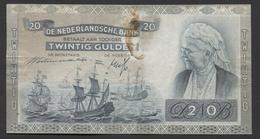 Netherlands  20 Gulden 9-7-1939 - 26-9-1945  NO: FY 088860  - See The 2 Scans For Condition.(Originalscan ) - 20 Gulden