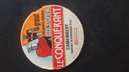 Étiquette Fromage Le Conquérant Goldorak - Autres Collections