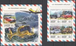 UU678 2017 TOGO SPECIAL TRANSPORT POLICE AMBULANCE CARS AIRCRAFTS KB+BL MNH - Voitures