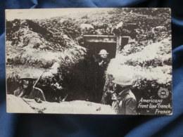 Guerre 1914  Soldats Americains Avec Des Masque à Gaz  Americans Front Line Trench France - R288 - Oorlog 1914-18