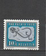 Suisse  Neuf **  1959  N° 629    Salamandre Pétrifiée - Unused Stamps